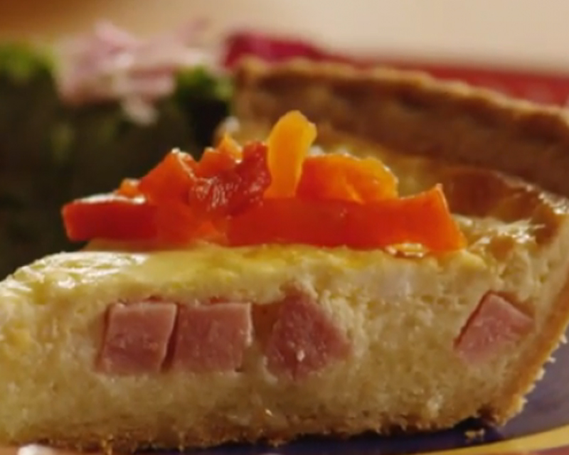 Lovely Leftovers Ham and Cheese Quiche