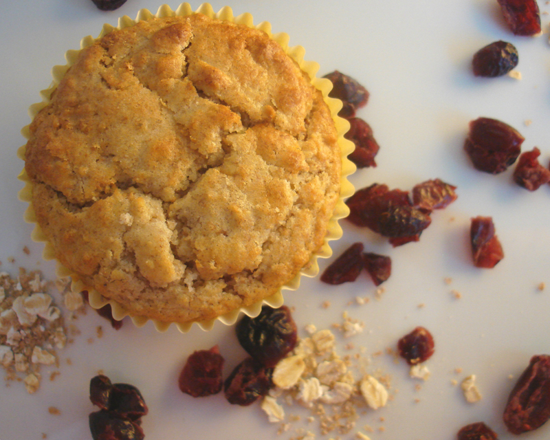 Oatmeal and cranberry muffins