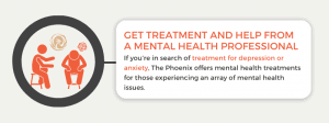 Get treatment and help from a mental health professional