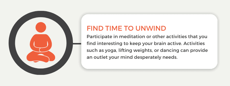 Find time to unwind